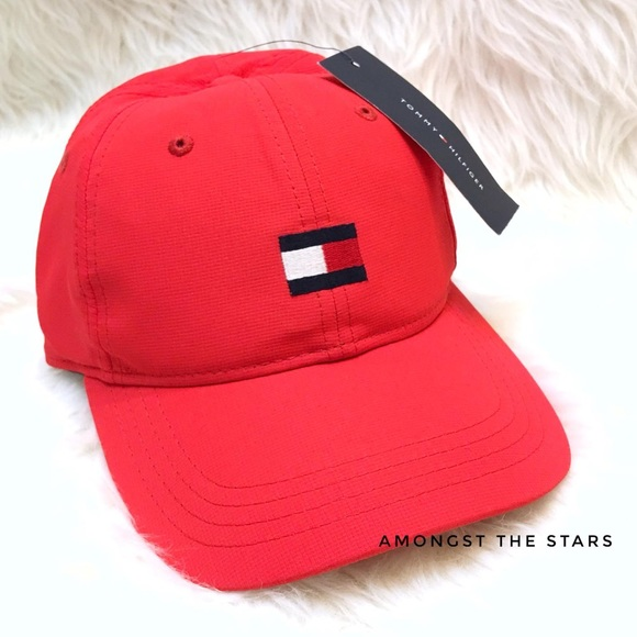 970b8ce9 Tommy Hilfiger Accessories | Red Flag Logo Strapback Hat Cap | Poshmark